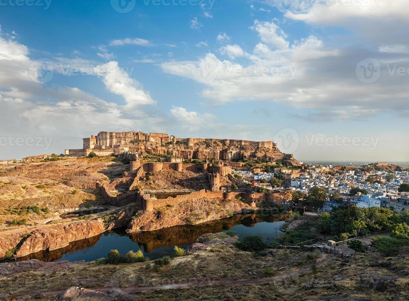 Fortaleza de Mehrangarh, Jodhpur, Rajastán, India foto