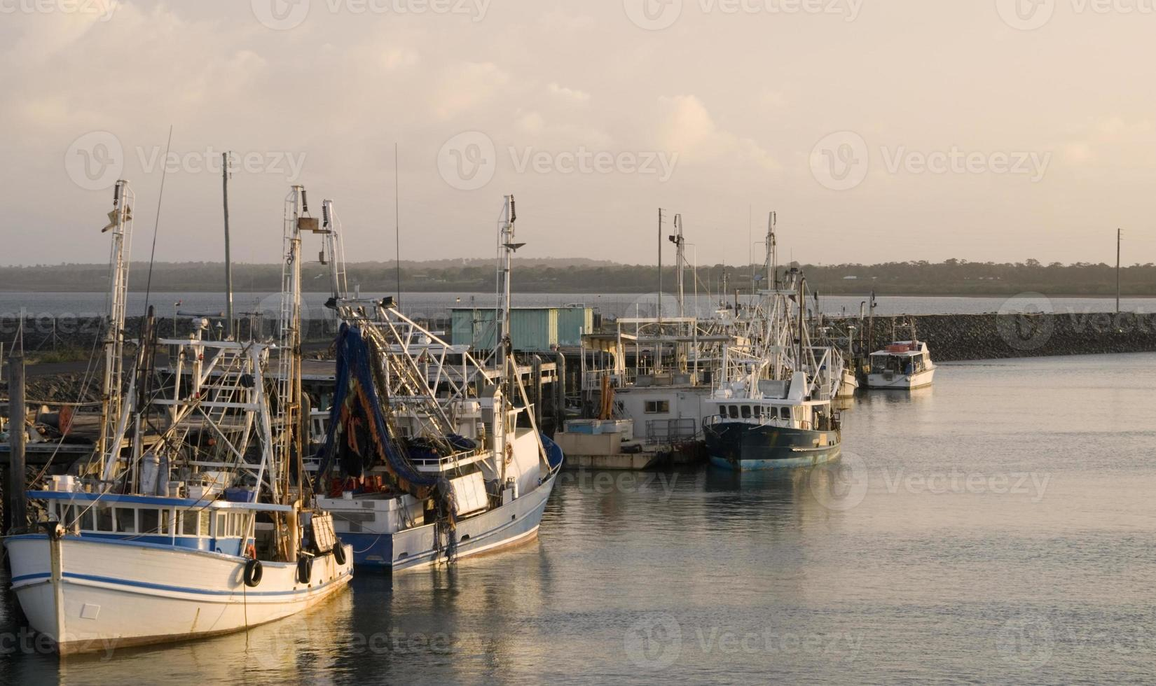Barcos de pesca en Hervey Bay / Australia foto