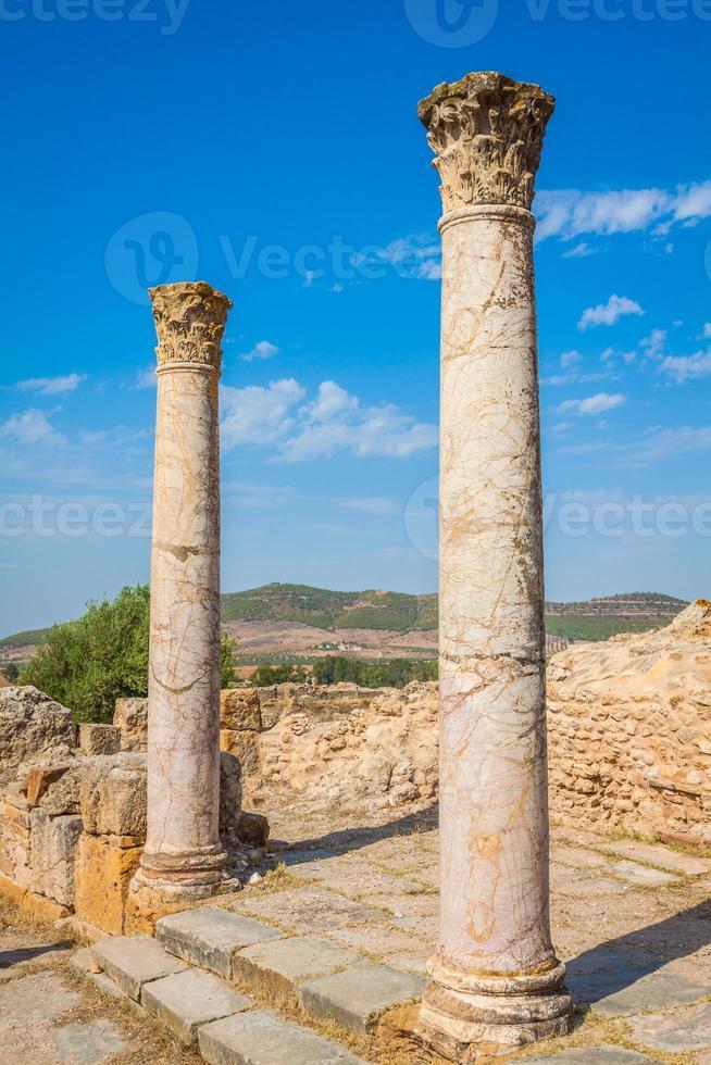 ruinas romanas santuario esculape thuburbo majus túnez foto