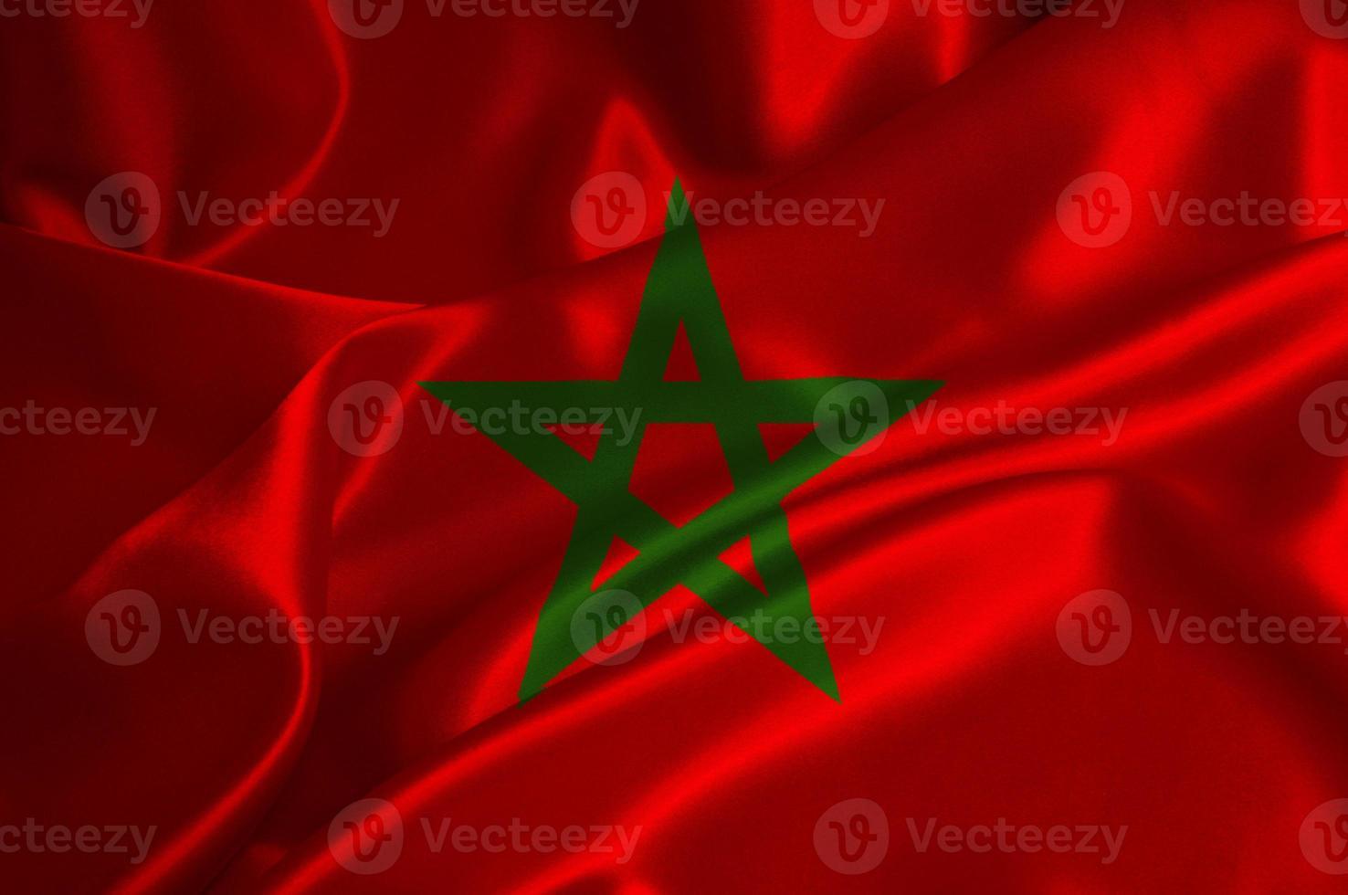 bandera de marruecos foto