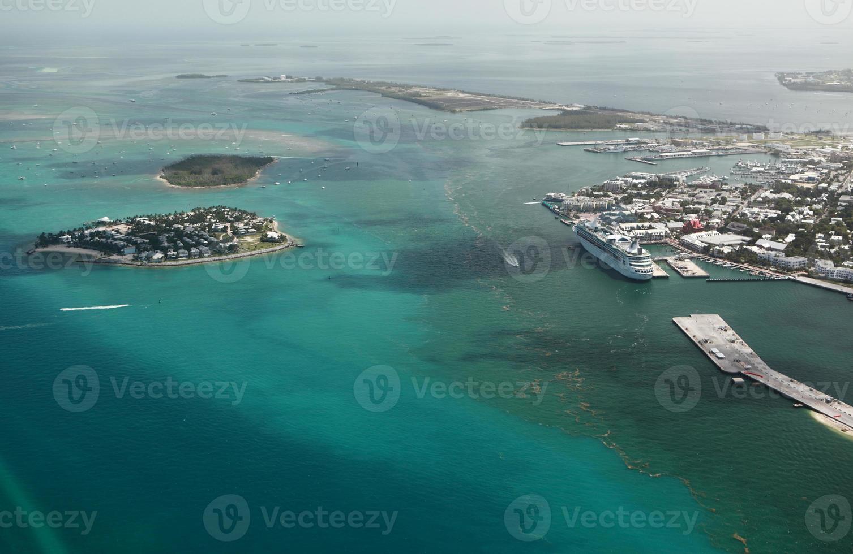 foto aérea del puerto marítimo de key west