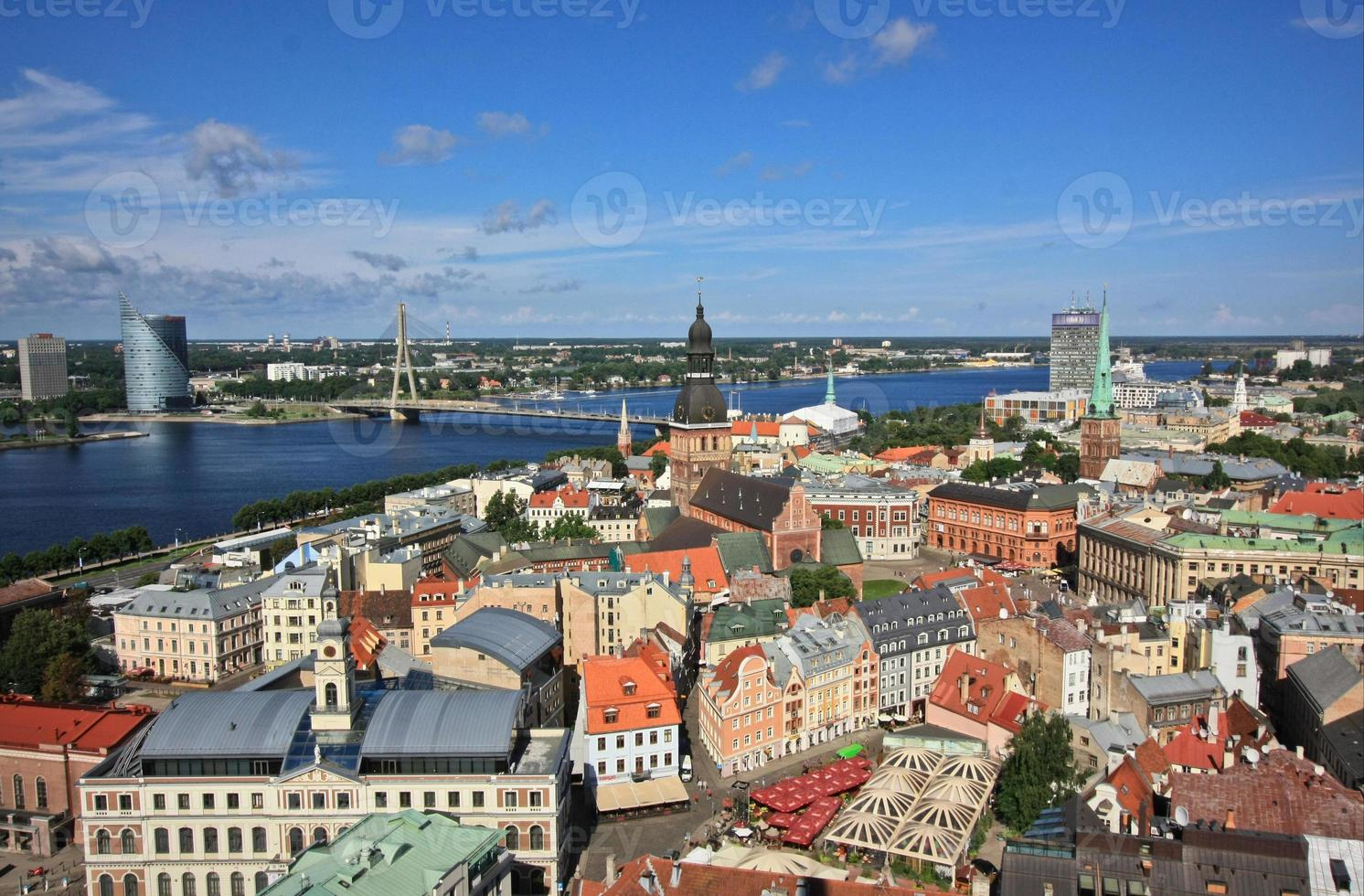 Riga from rooftop of the cathedral photo