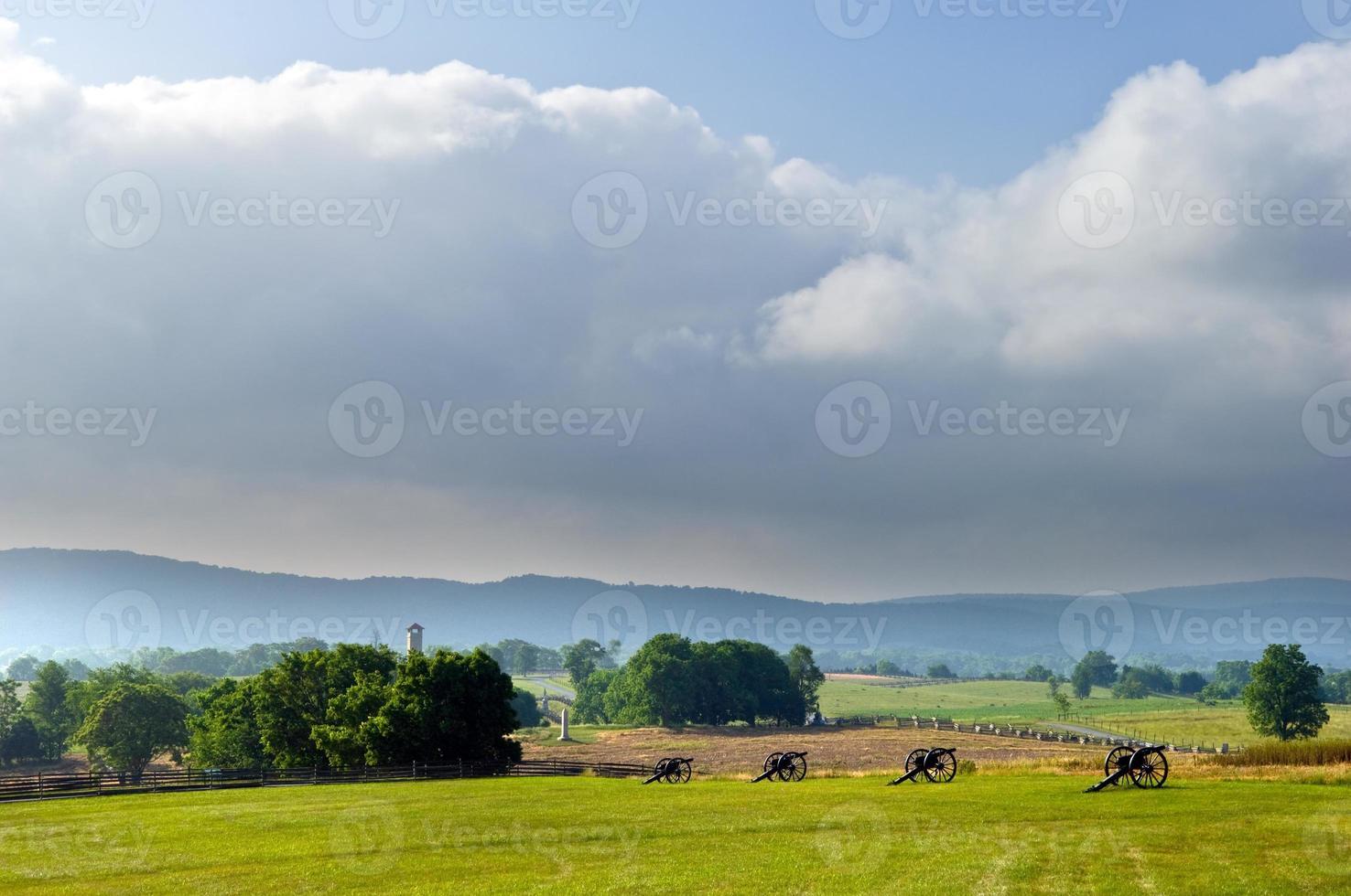 panorama del campo de batalla de antietam foto