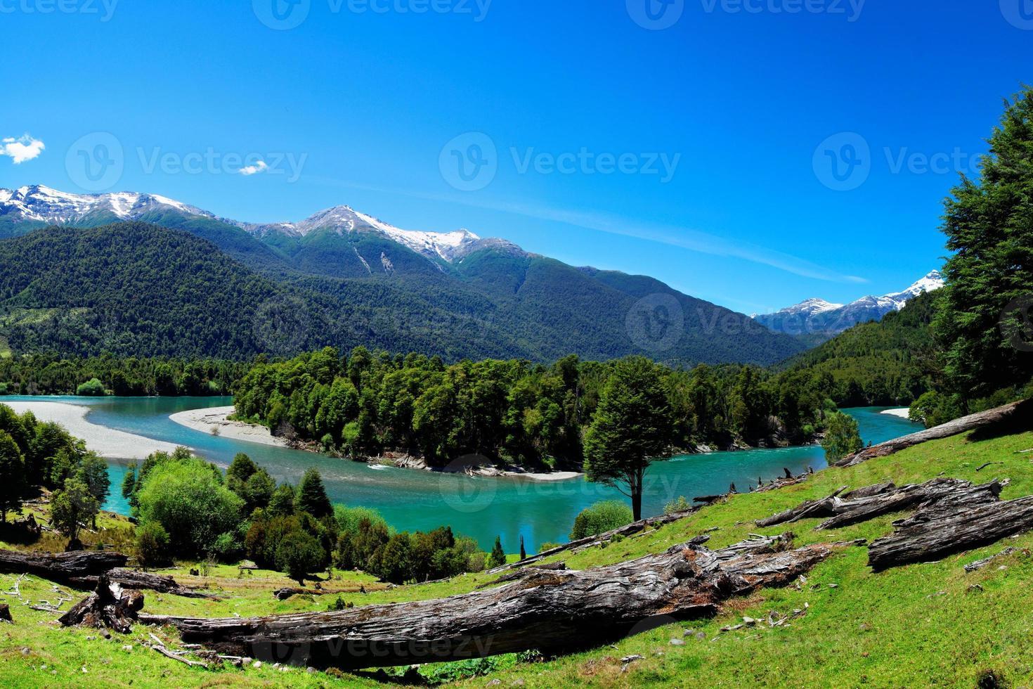 río en patagonia, el pangue, chile foto