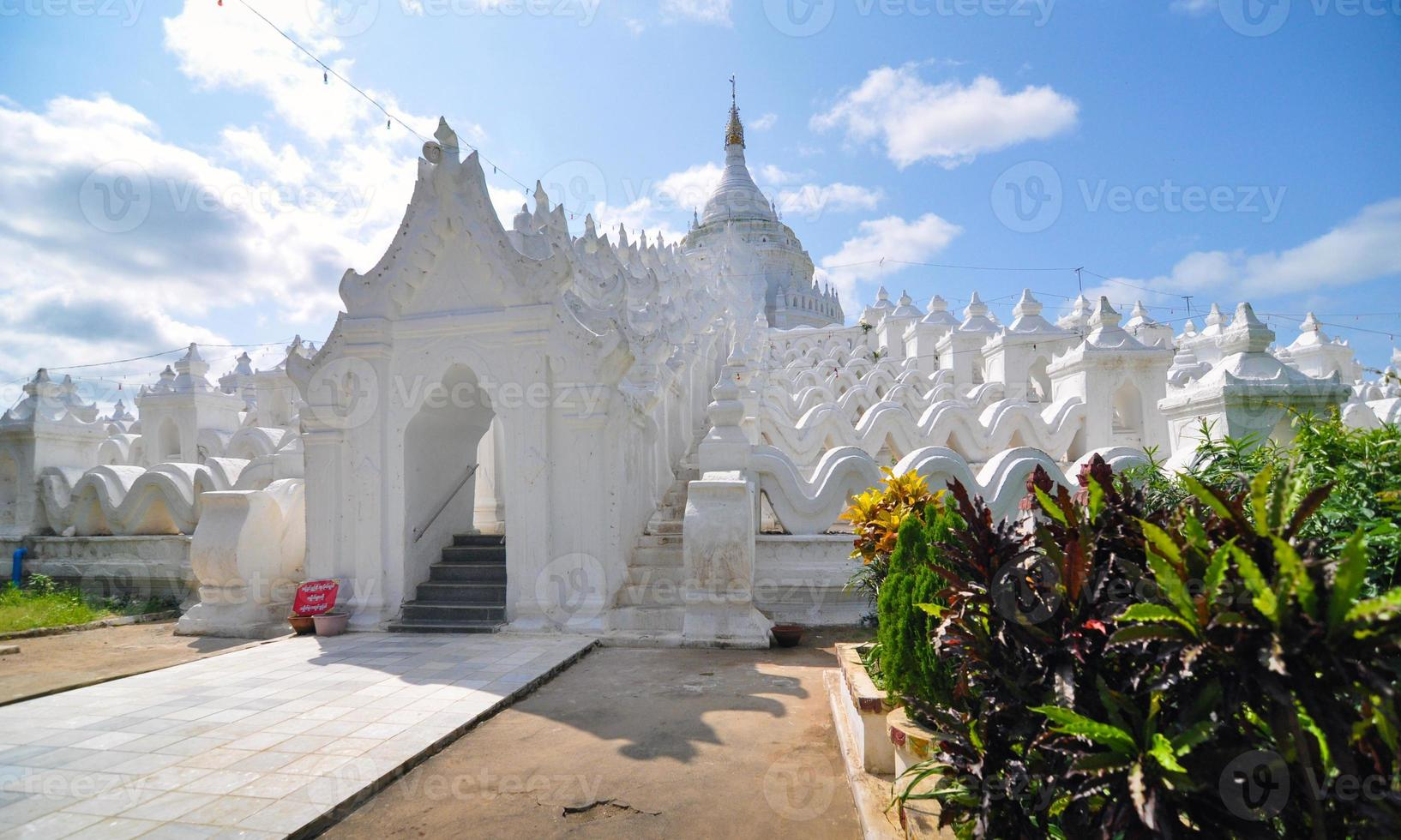 White pagoda of Hsinbyume paya temple photo