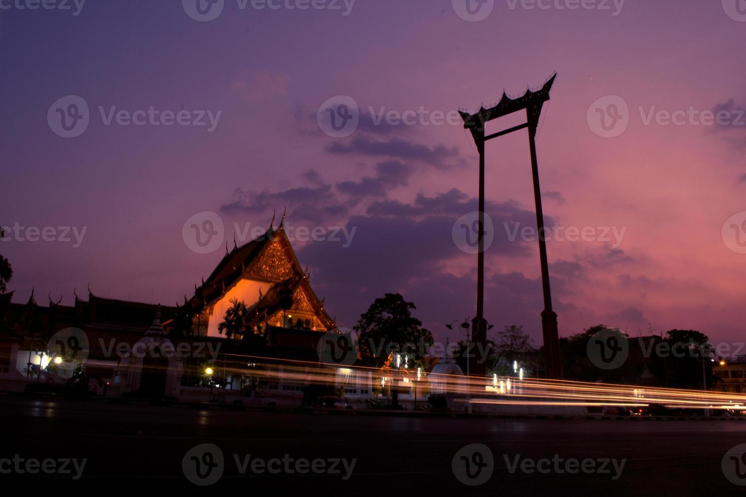 Sao Chingcha Famous Thailand Tourist Attraction with long Exposure effect photo