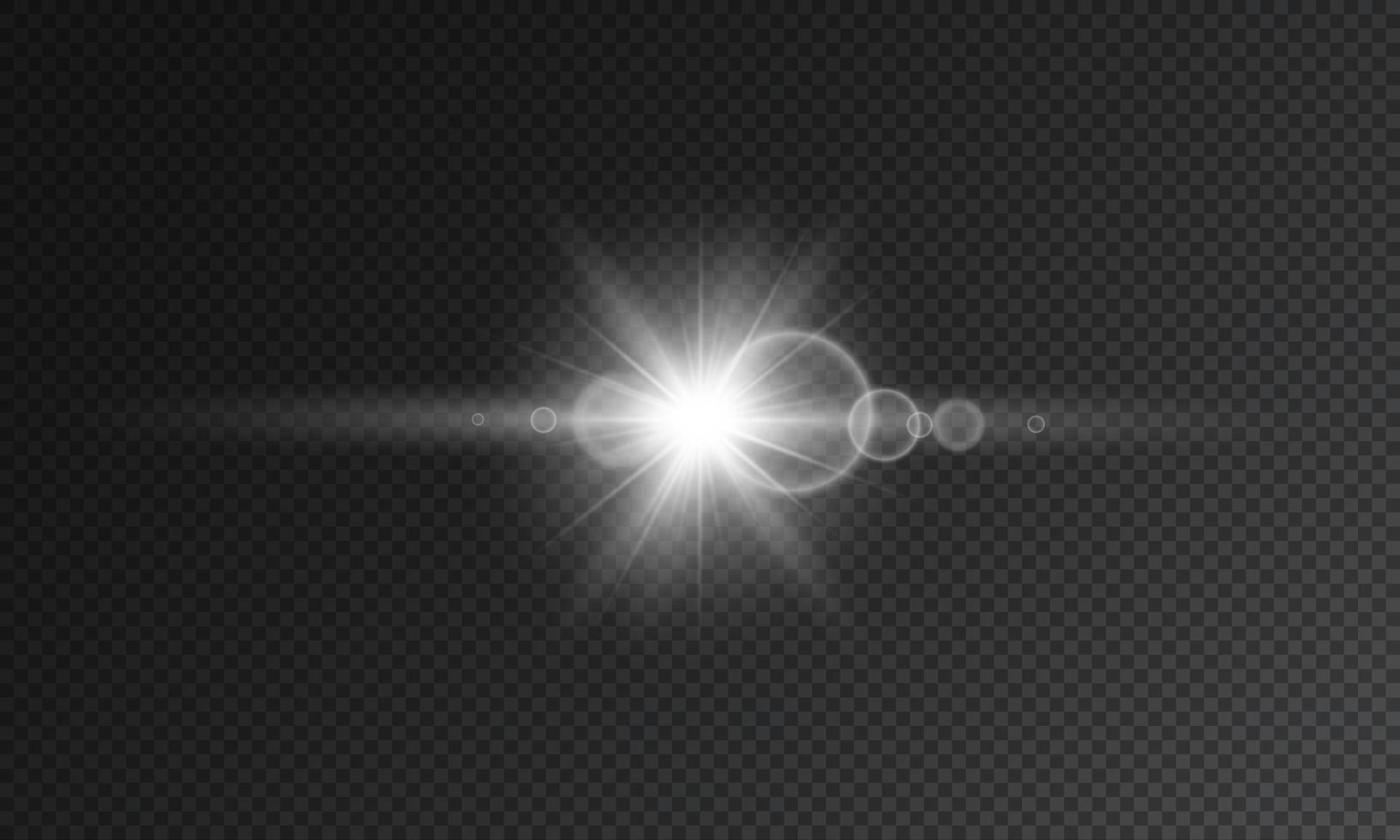 flash transparente con foco y lente vector