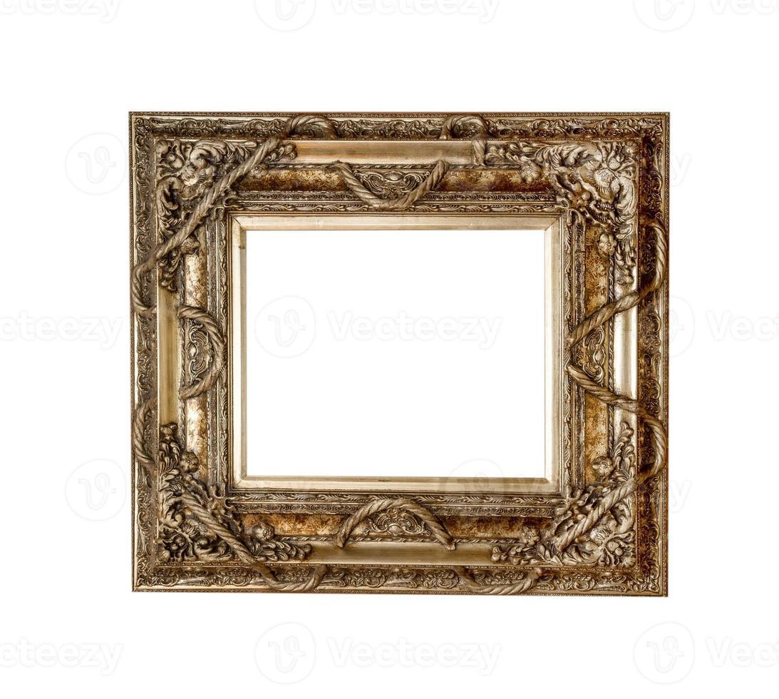 Gold picture frame, retro photo