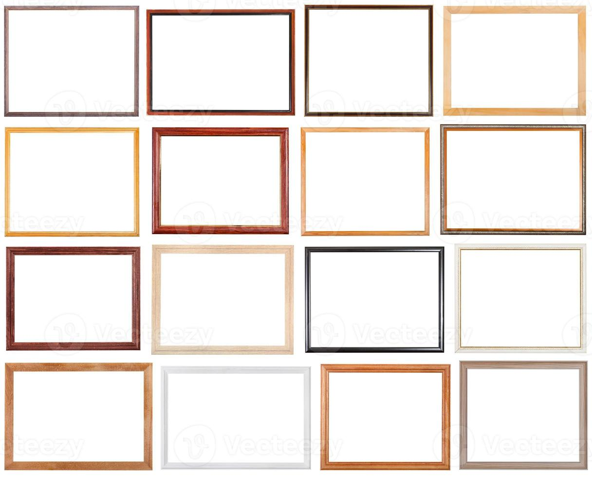 set of 16 pcs narrow wooden picture frames photo