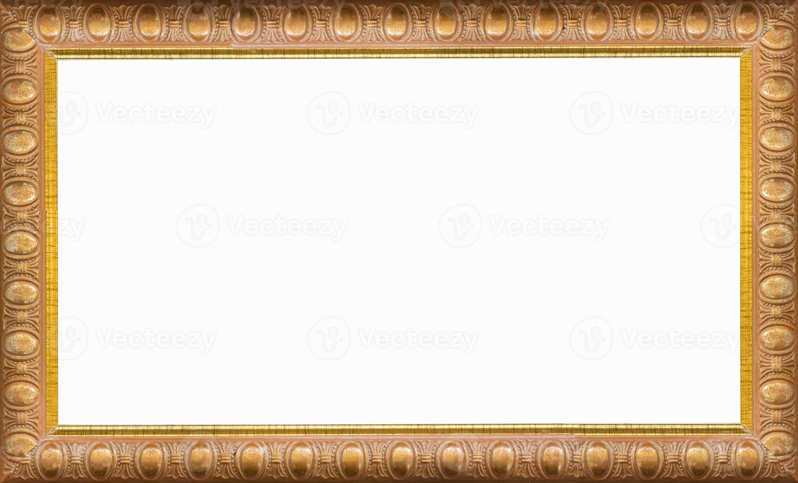 gold picture frame Isolated on white background photo