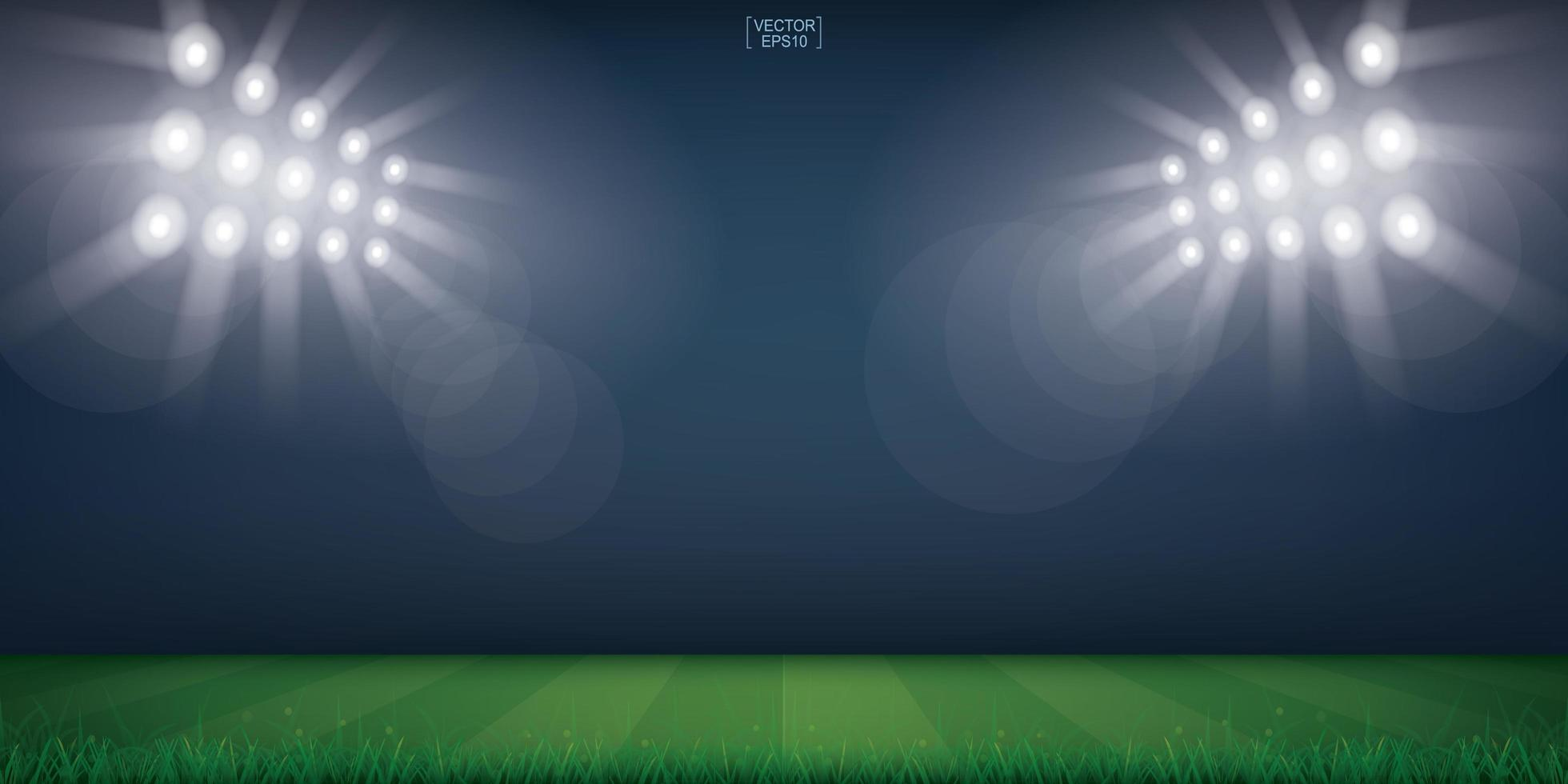 Football Field or Soccer Field Stadium Background vector