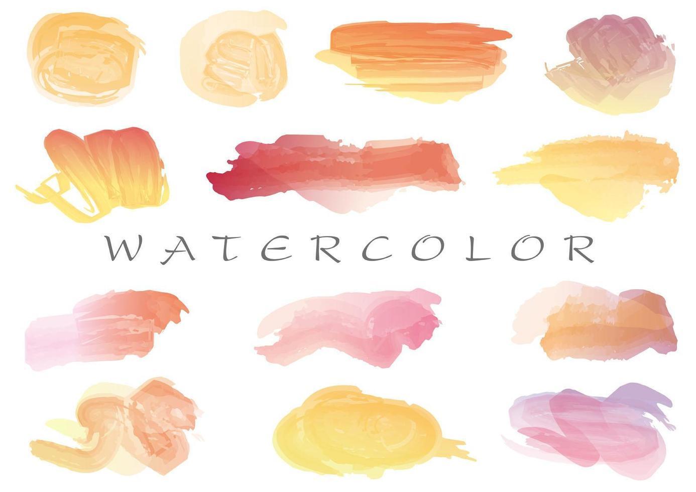 Watercolor brush stroke icon collection  vector