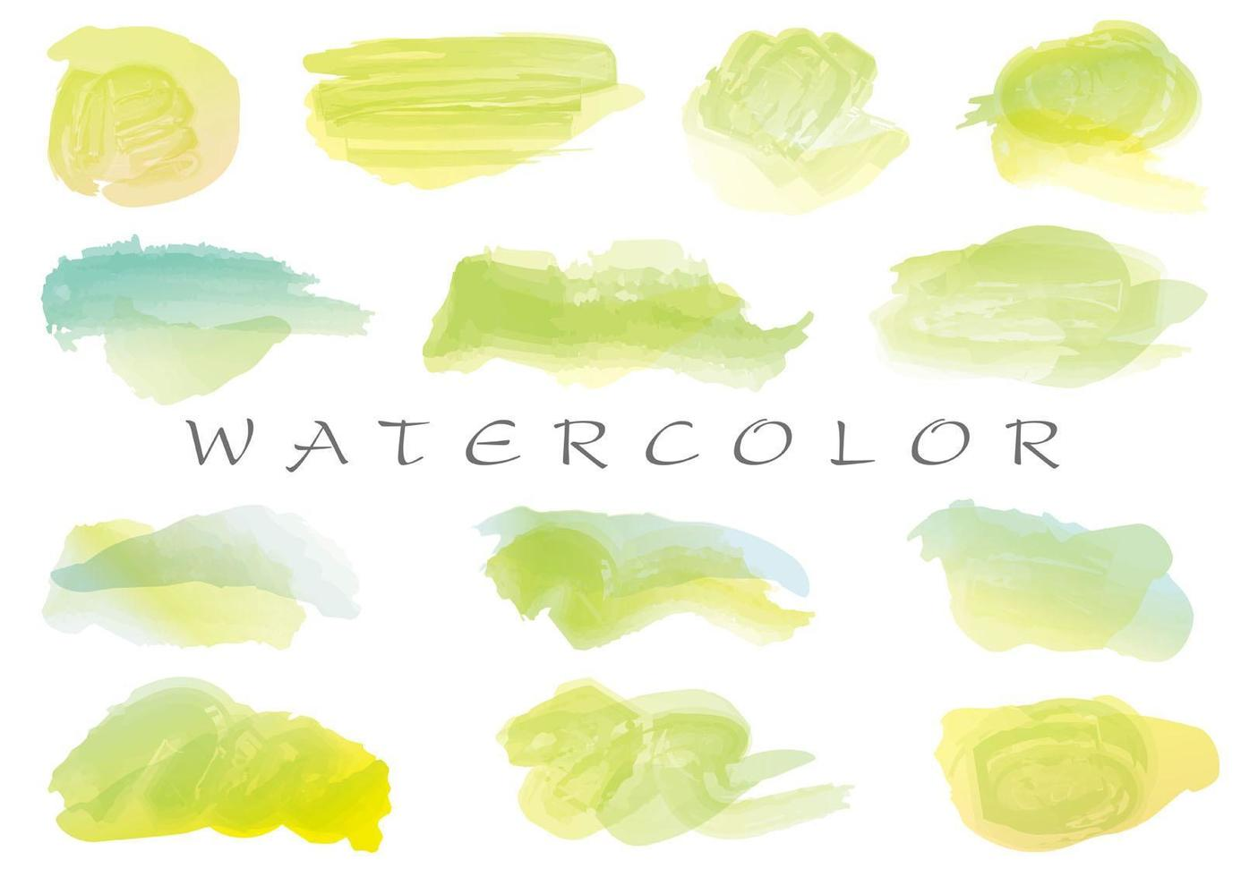 Watercolor brush stroke icon collection vector