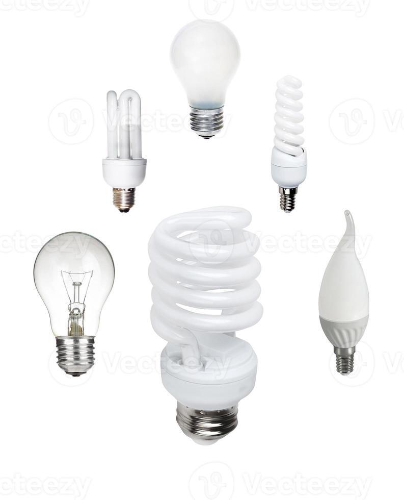Classic and saving light bulb photo