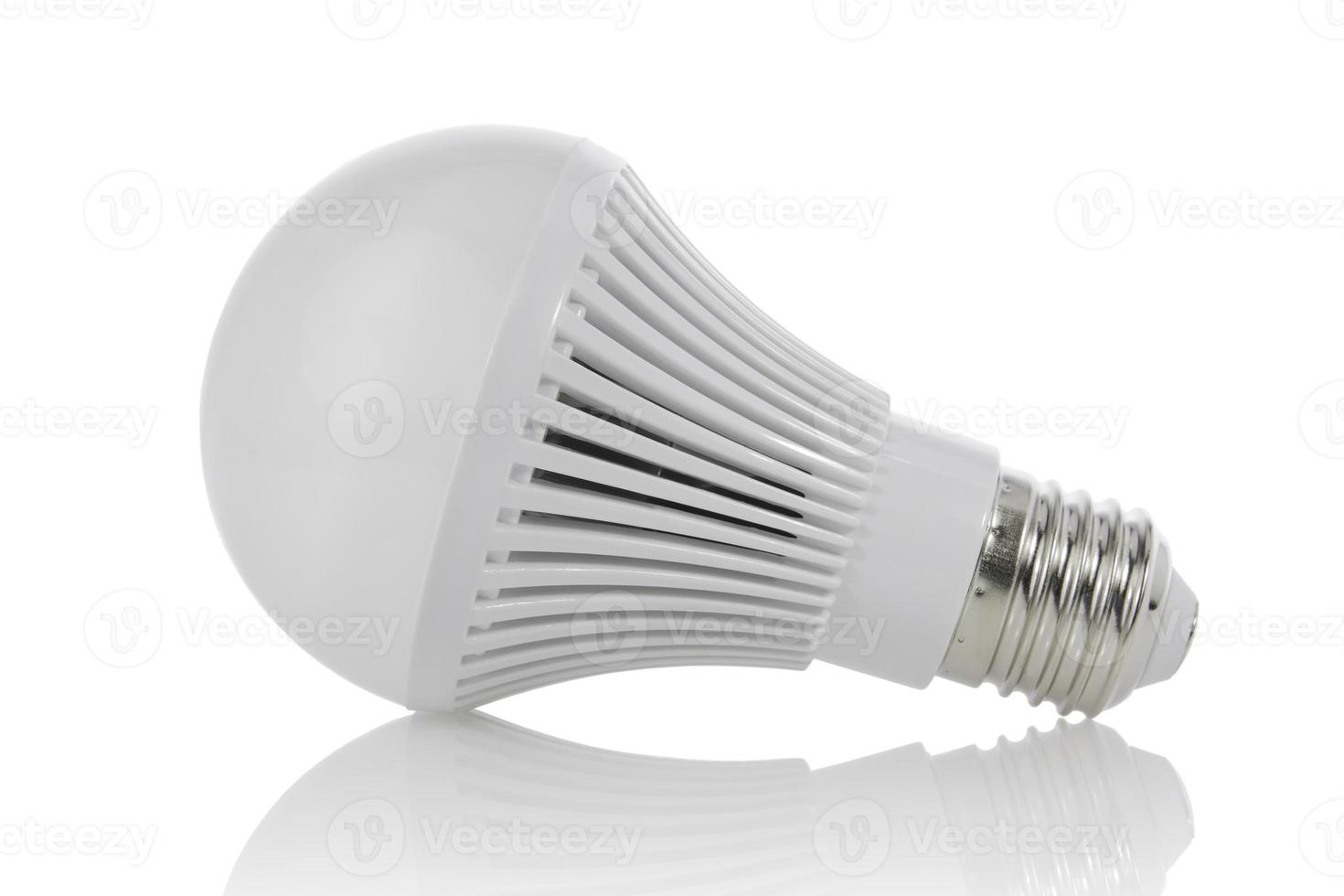 LED light bulbs and shadow, with clipping path. photo