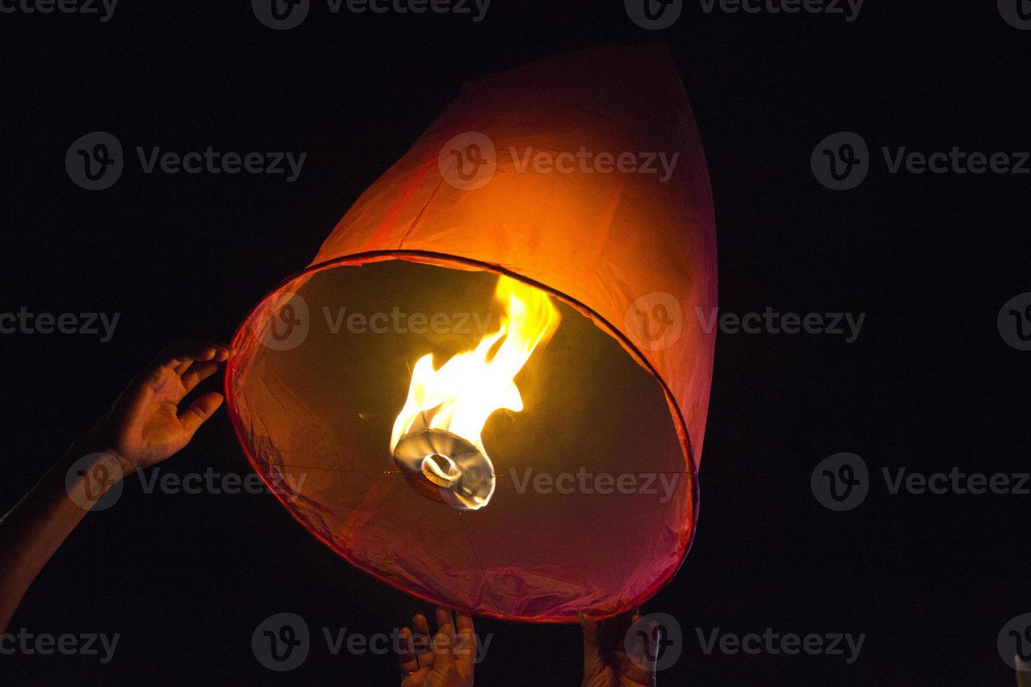 Thai sky lantern photo