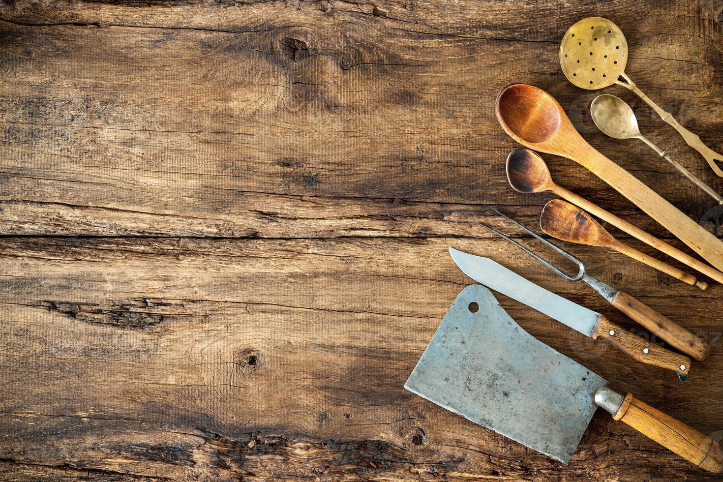Vintage kitchen utensils photo