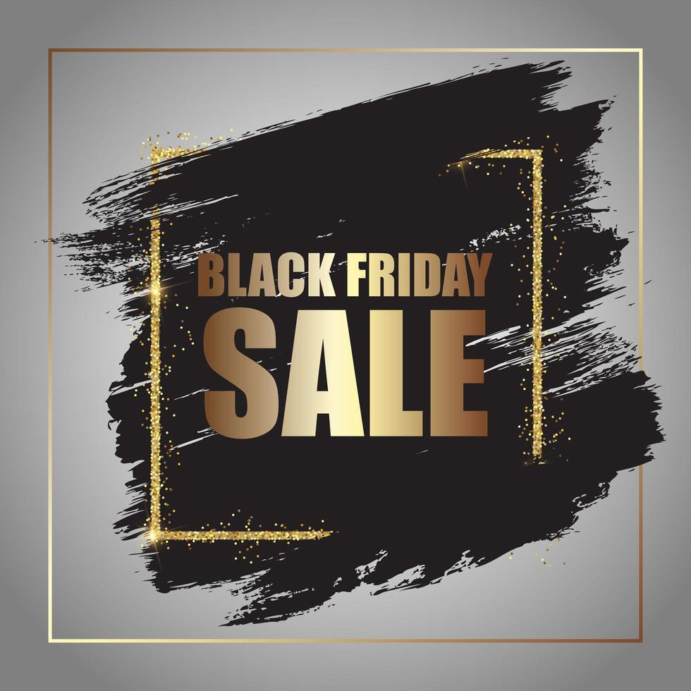 cartaz de venda grunge black friday vetor
