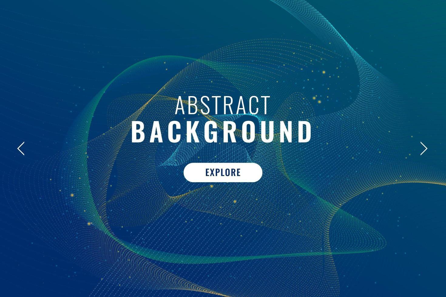 fondo abstracto con partículas onduladas vector