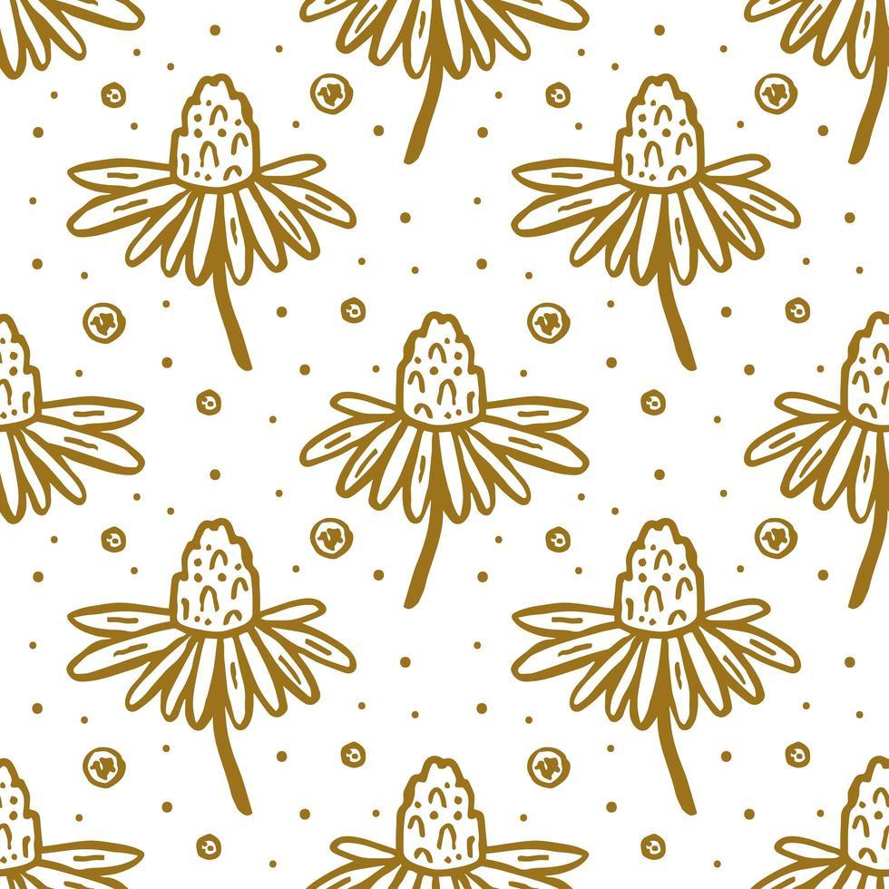flor, flor, seamless, patrón vector