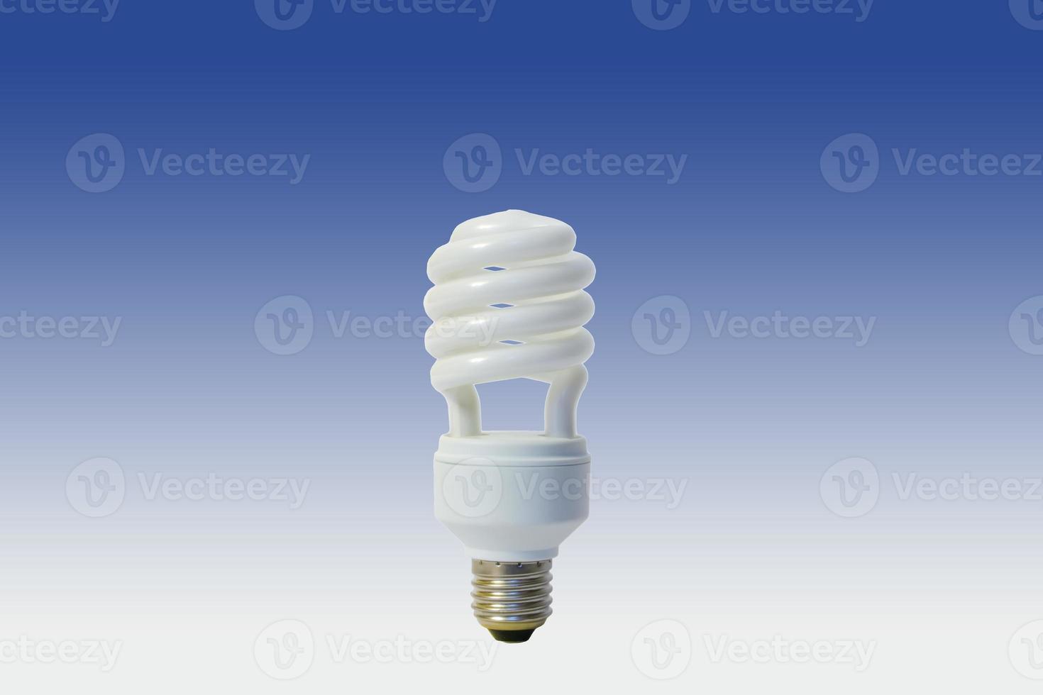 White energy saving lamp photo