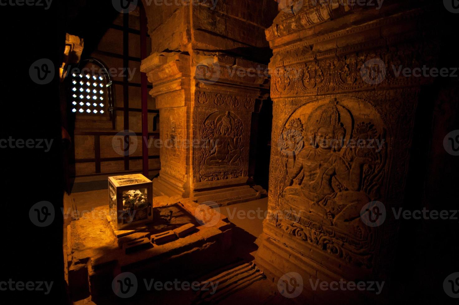 Buddha carving in Temple, Bagan, Myanmar photo