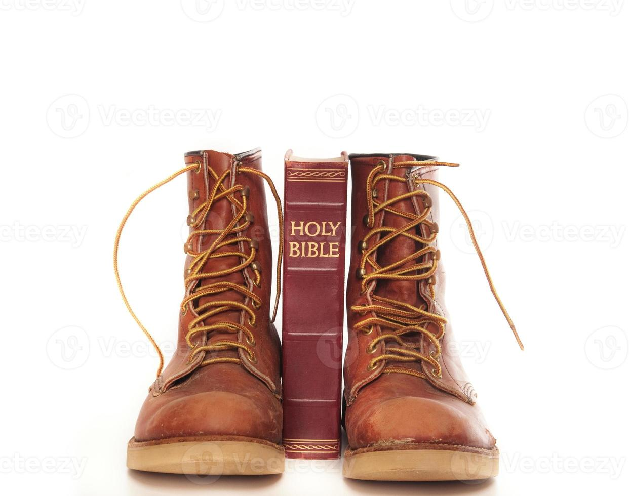 Boots and bible photo