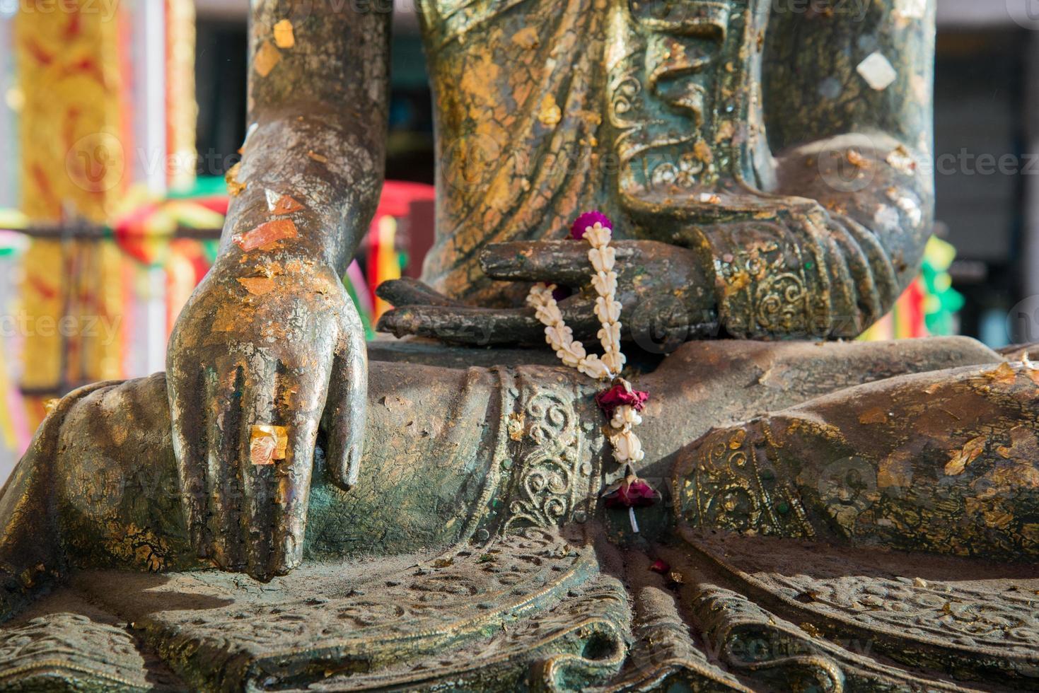 città panoramica di buddha in thailandia. foto