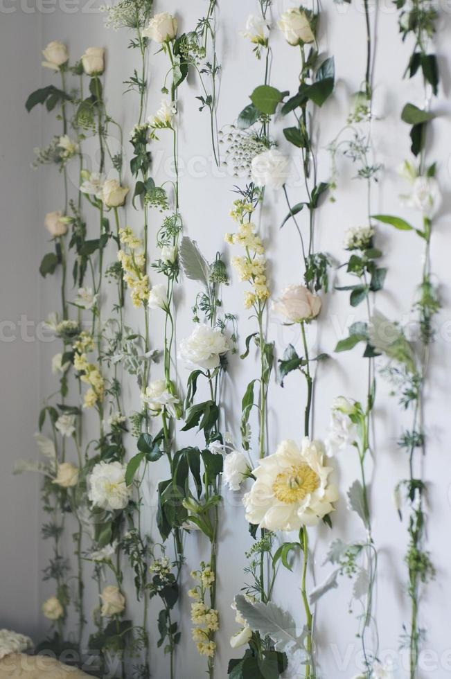 parede de flores foto