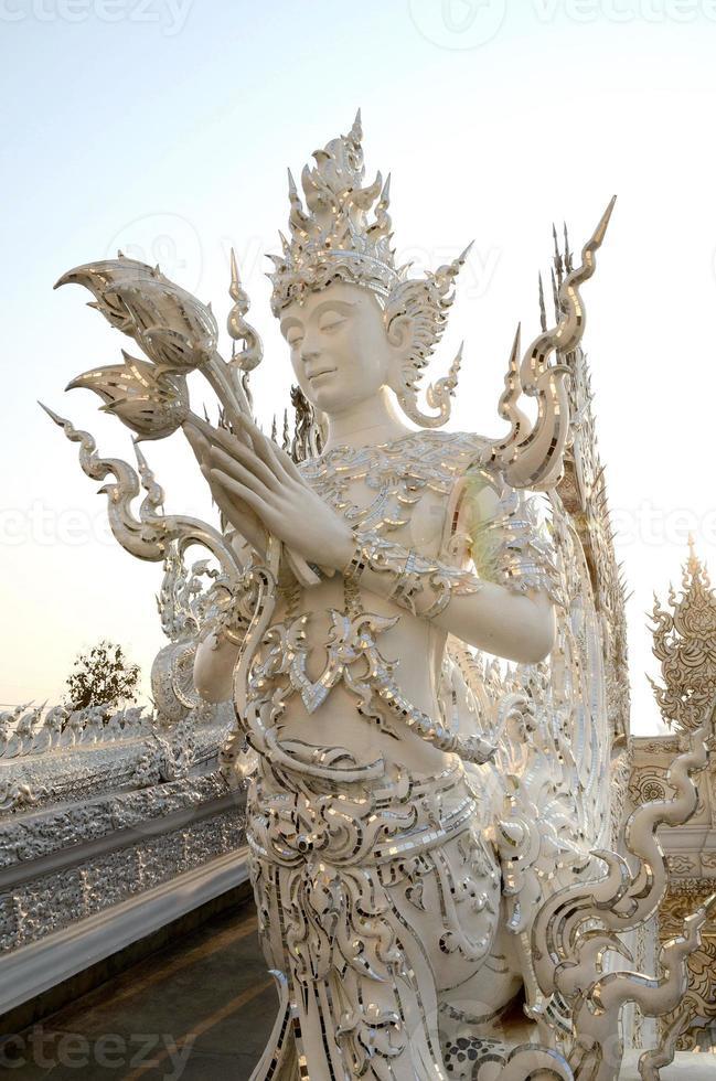 Buddhist art at Wat Rong Khun, Chiang Rai photo