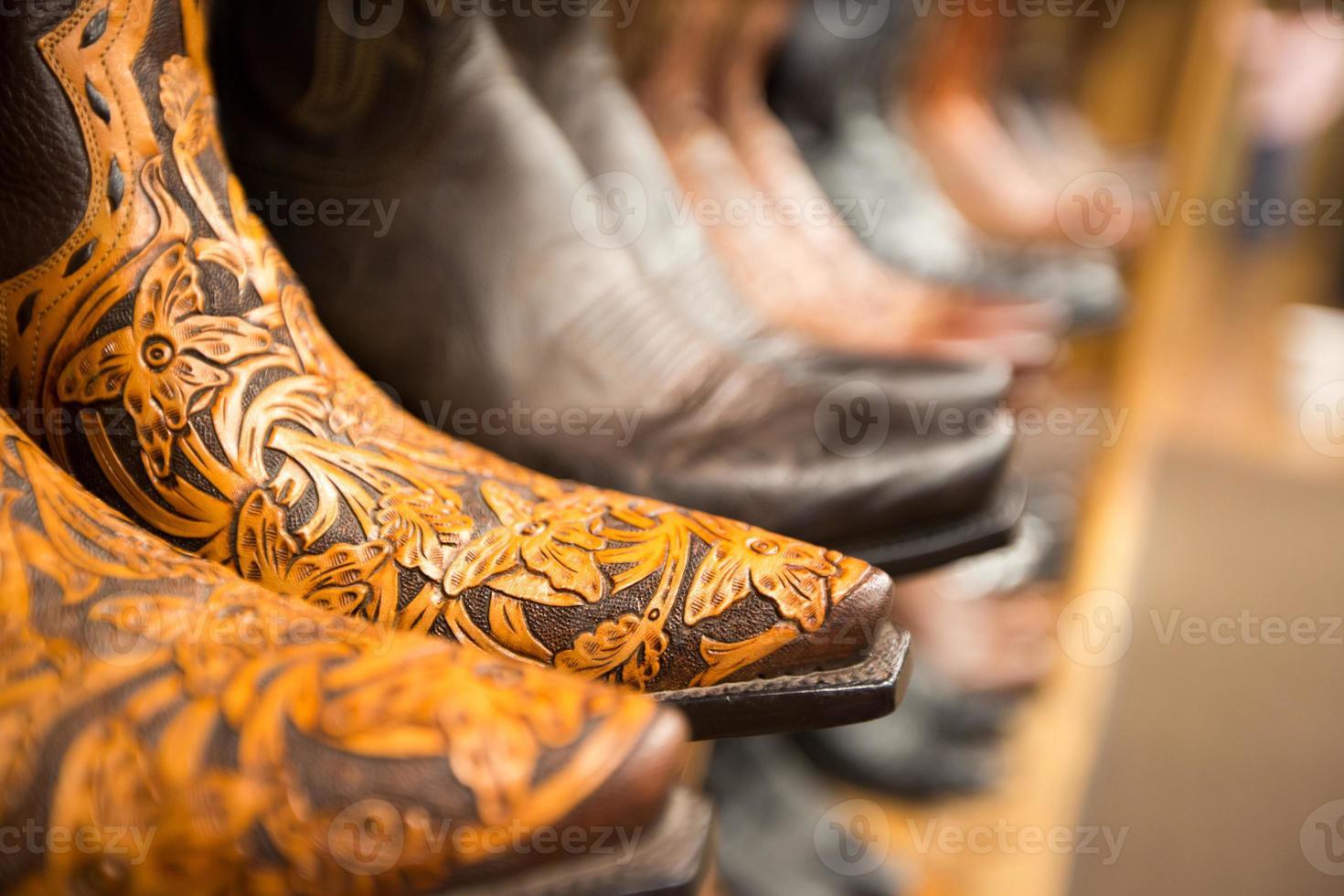 detailhandel: cowboylaarzen foto