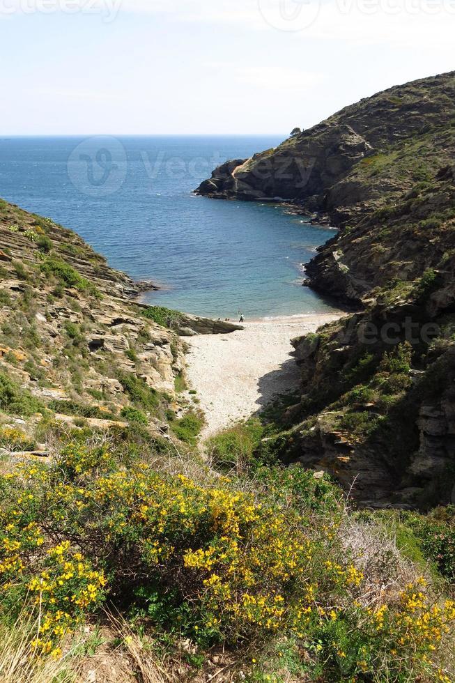 pequeña playa mediterránea foto