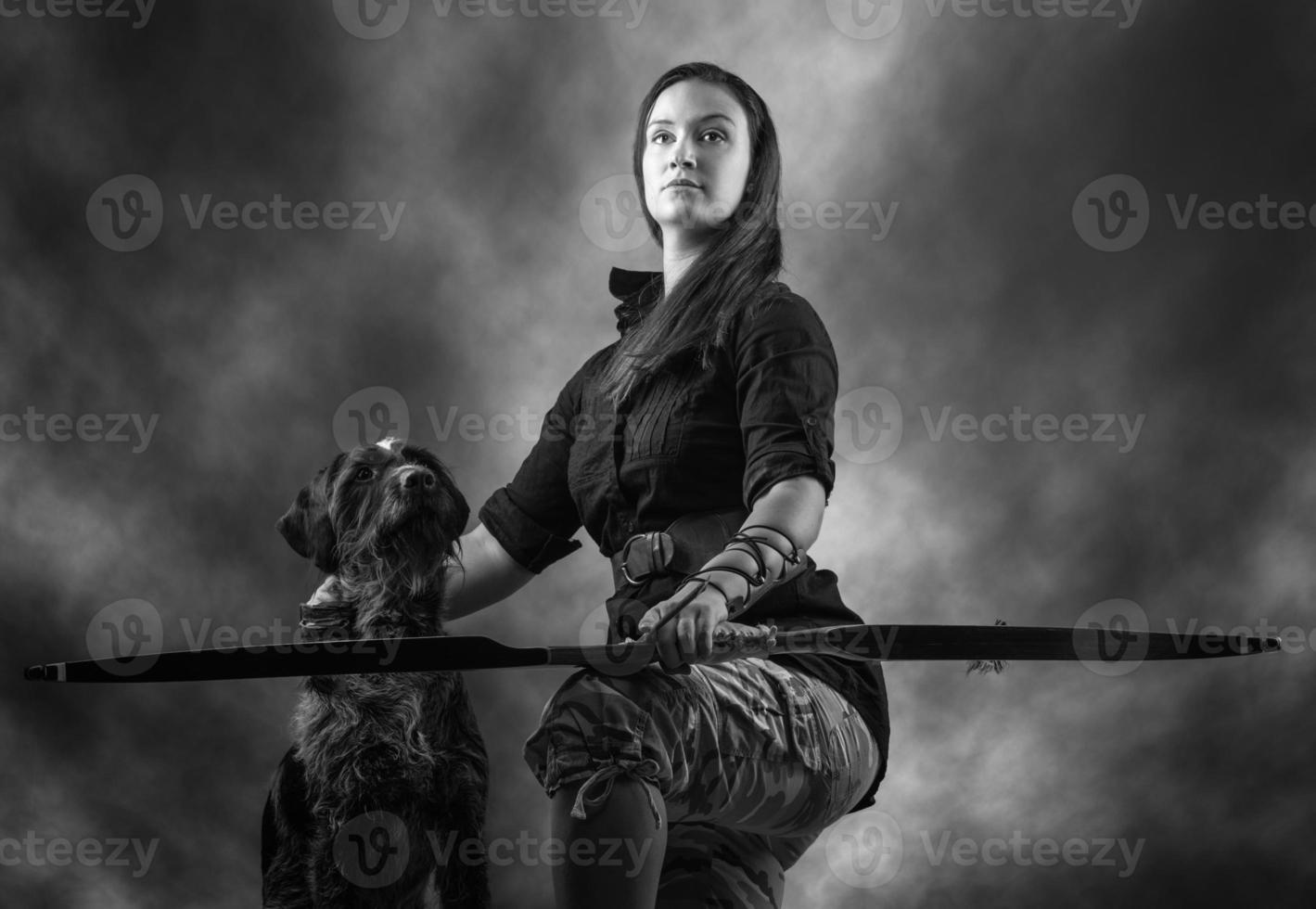 Archery woman photo
