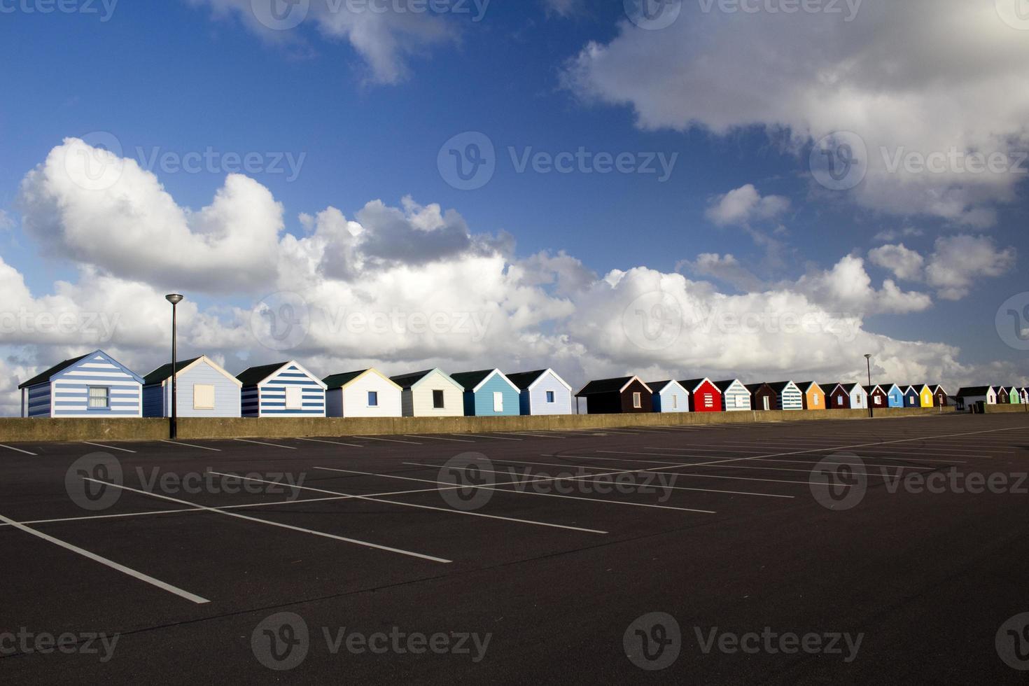 Colourful Beach Huts, Southwold, Suffolk, England photo