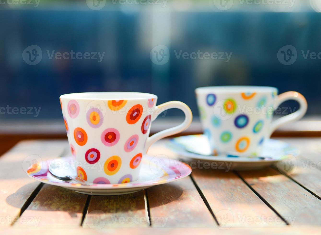 Colorful cup of coffee photo