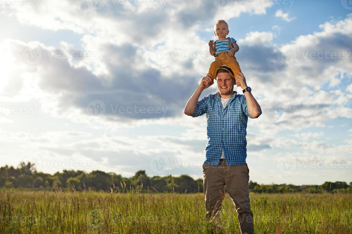 padre e hijo foto