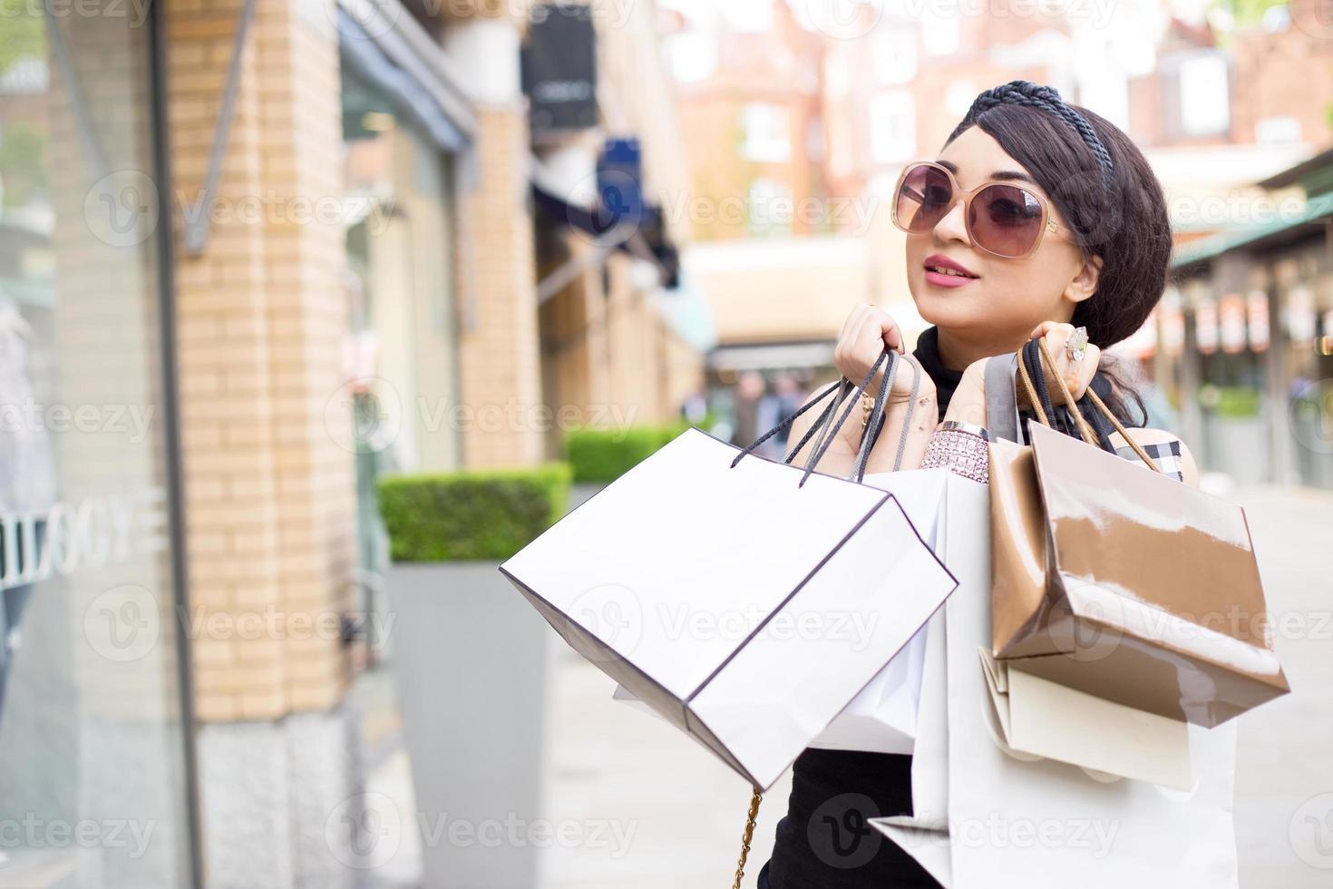 shopping girl photo
