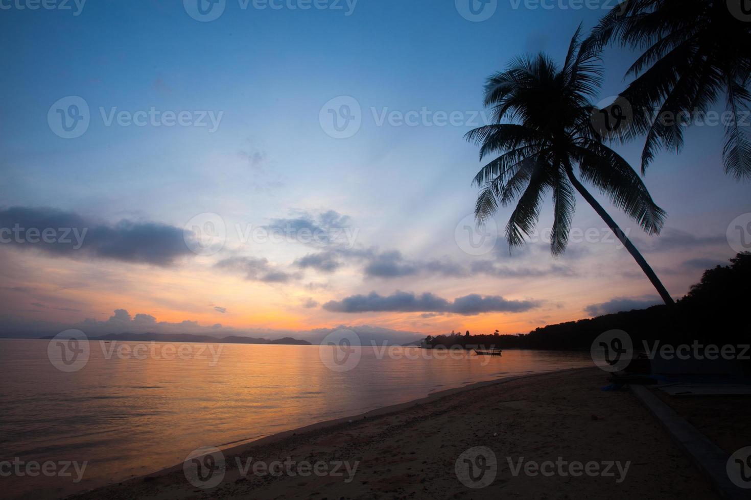 Beautiful twilight sunset sky photo