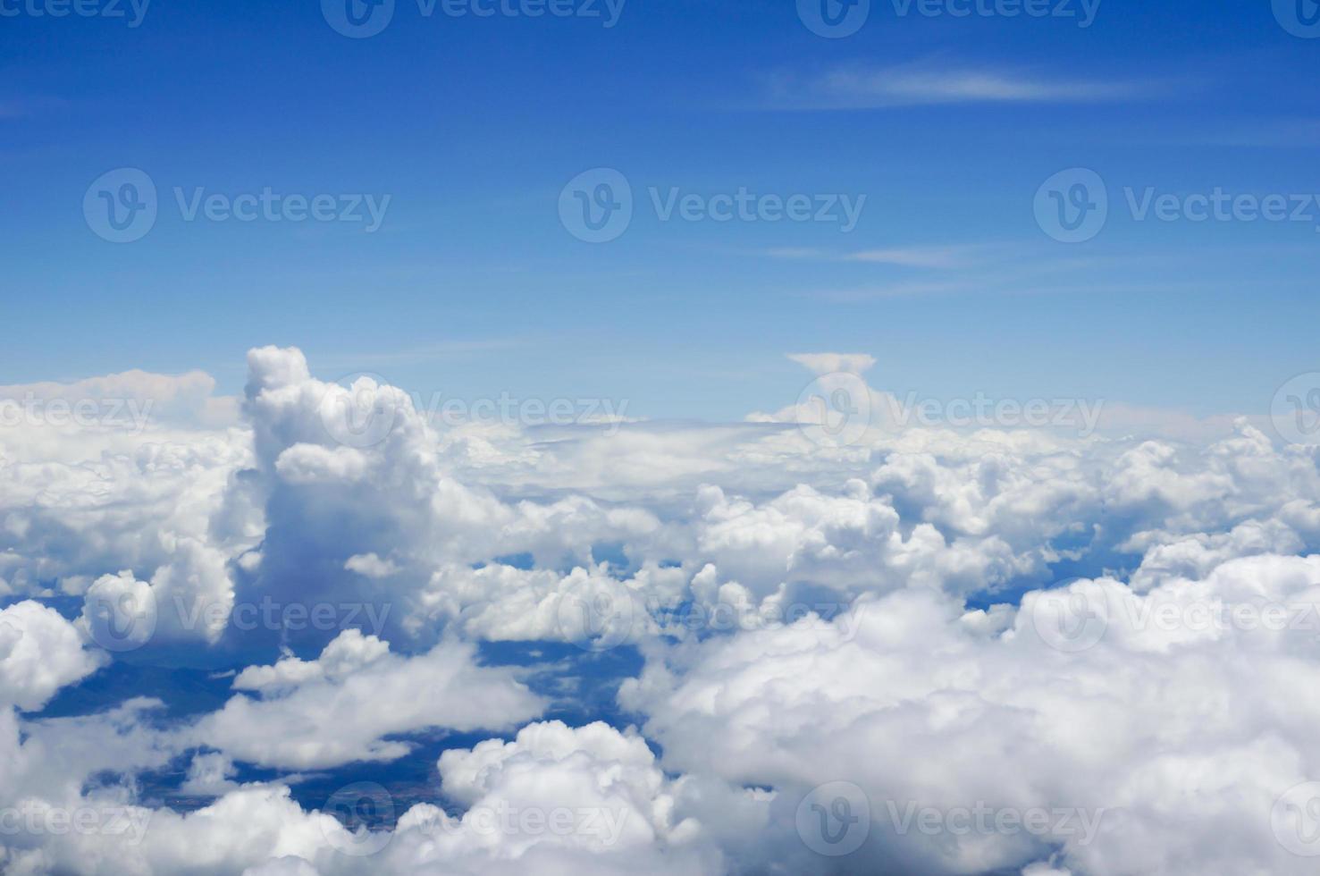 nube y cielo desde avión foto