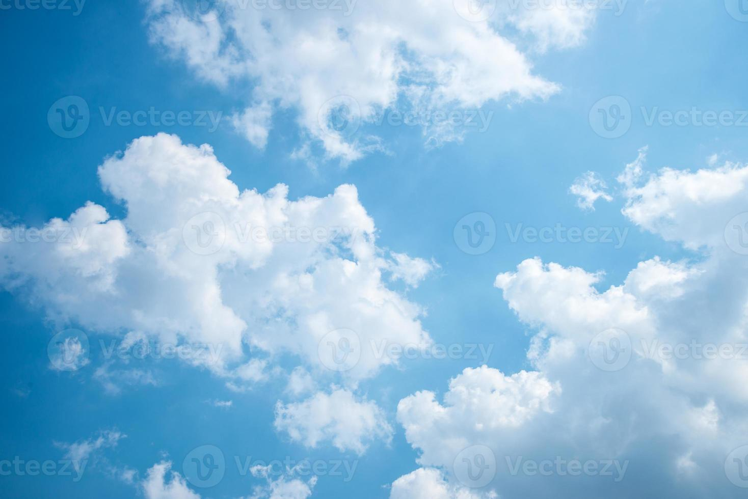 white clouds with blue sky background. photo