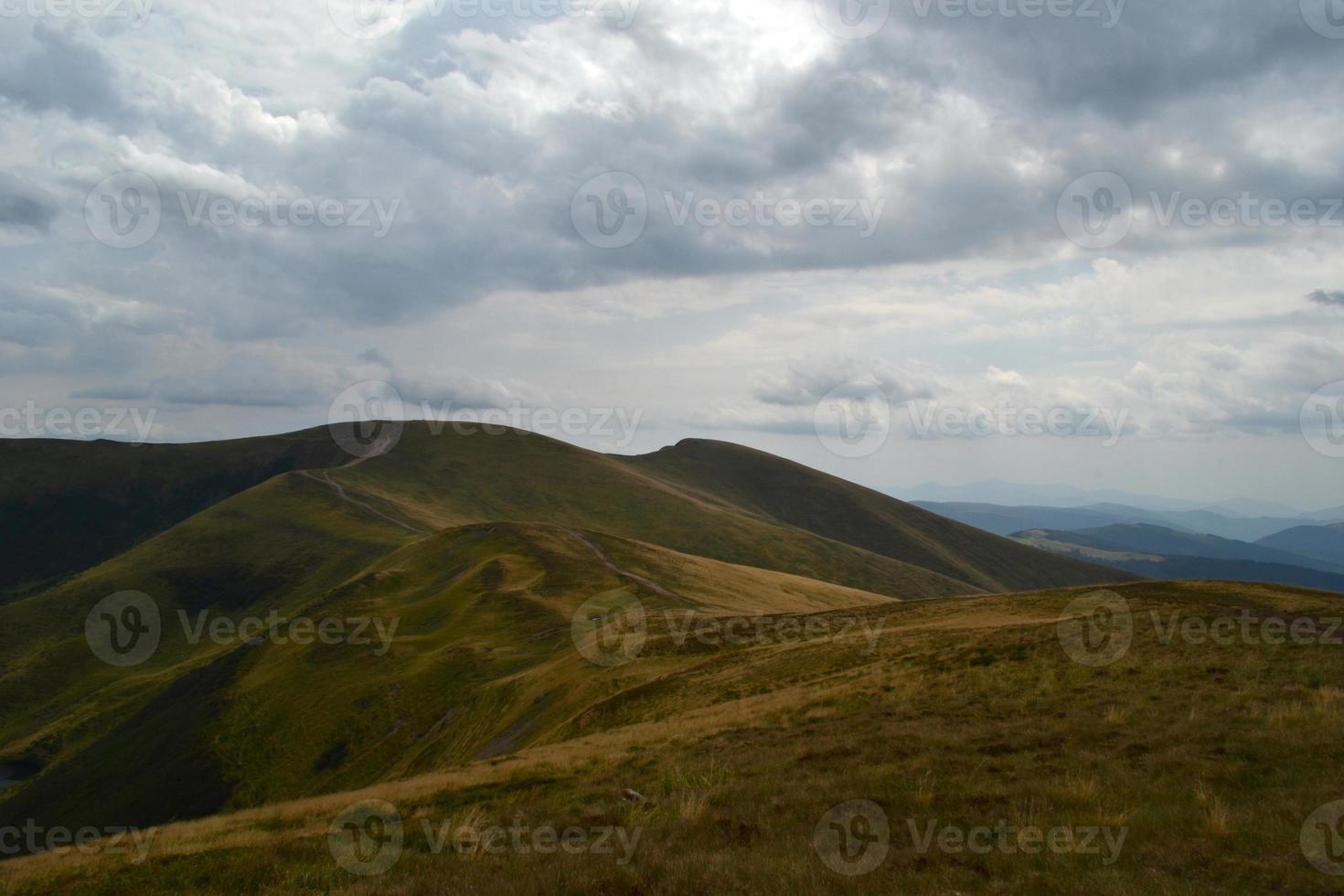 nube, montañas, cielo, de, viaje, de, un, panorama foto