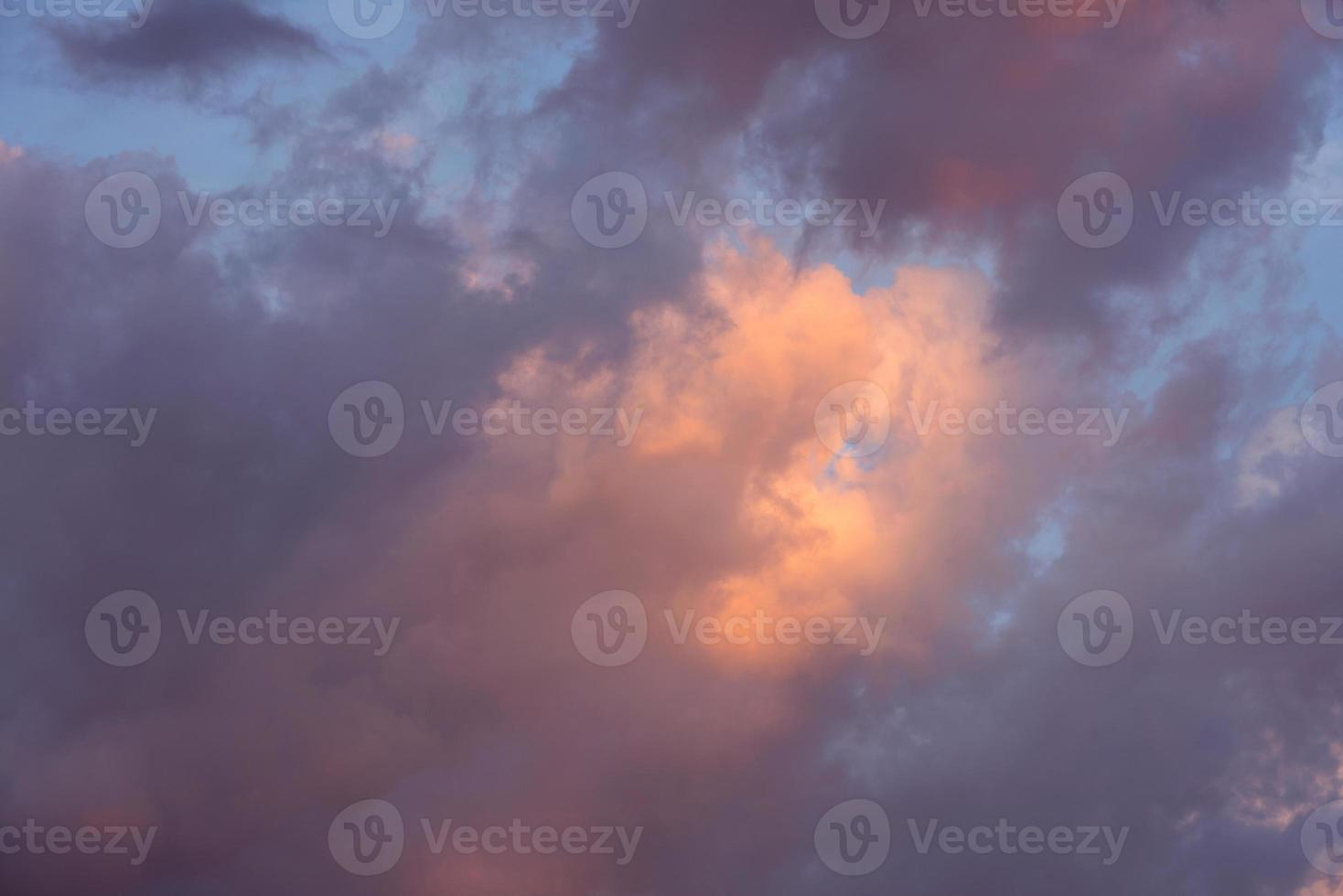 colorful dramatic sky with cloud photo