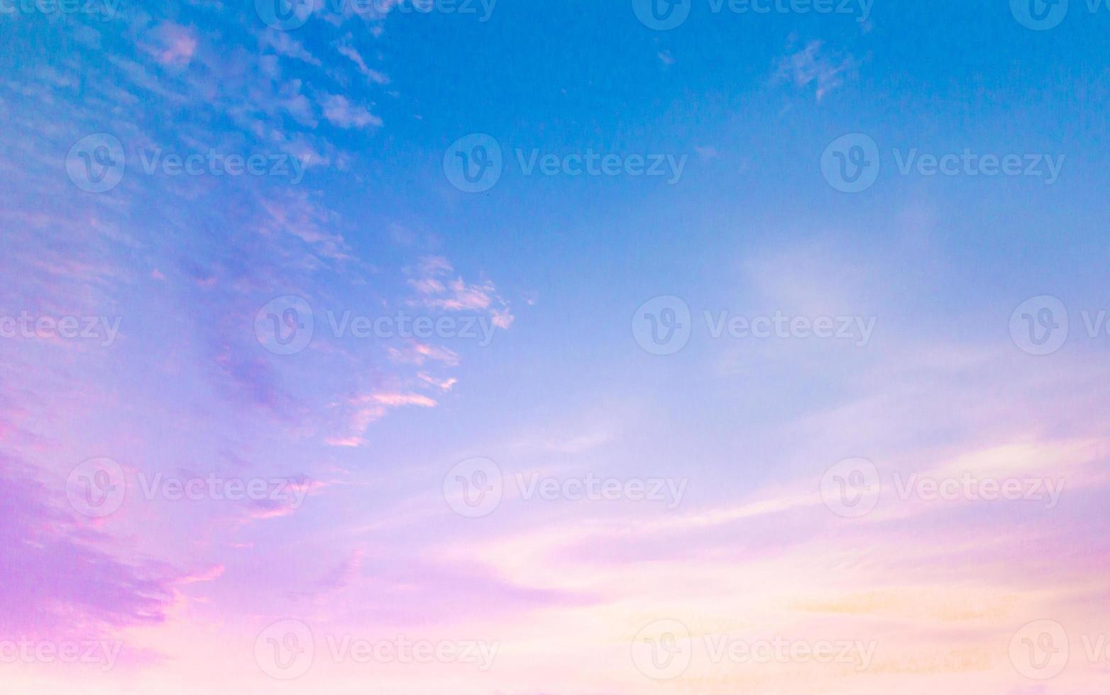 blue sky and orange cloud photo