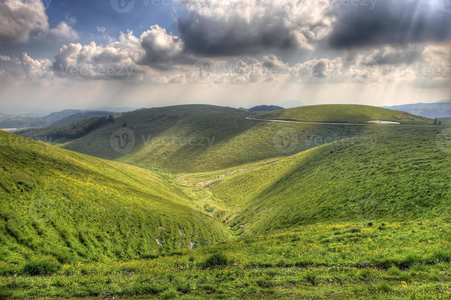 HDR view of Lessinia in Northern Italy. photo