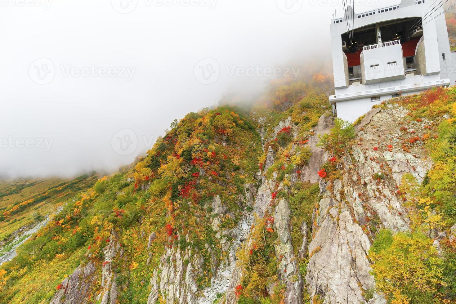 Tateyama Kurobe Alpine route of autumn photo