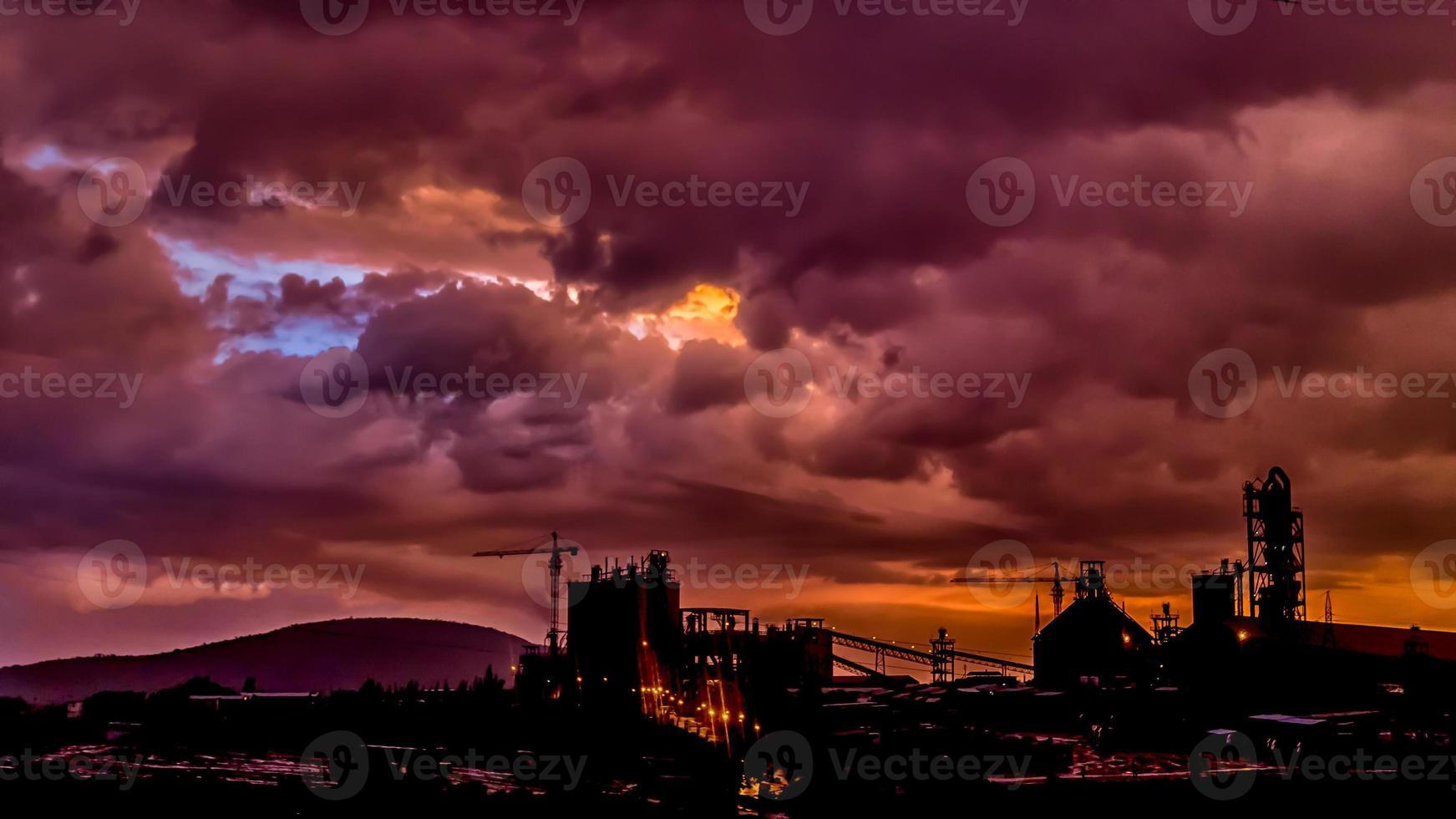 Dark clouds over Dire Dawa Cement factory photo