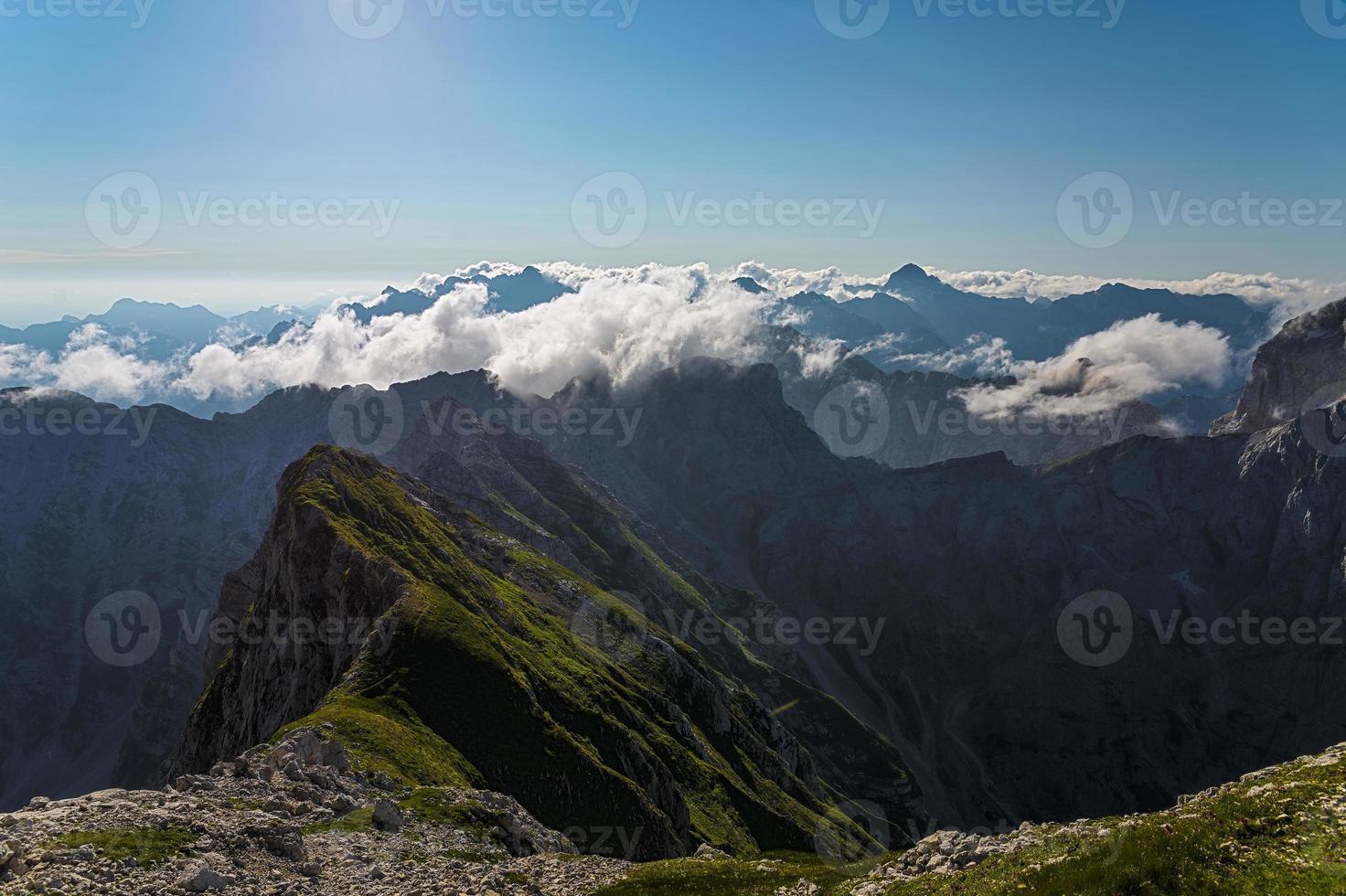 Panorama of Julian Alps from Mangart photo