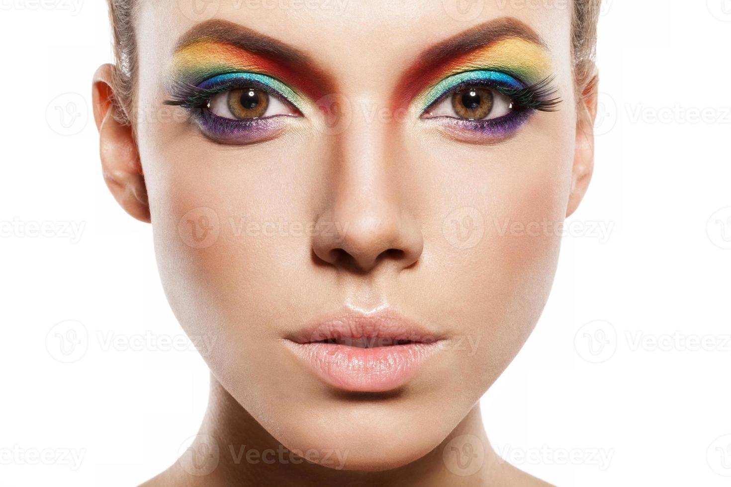 rainbow makeup photo