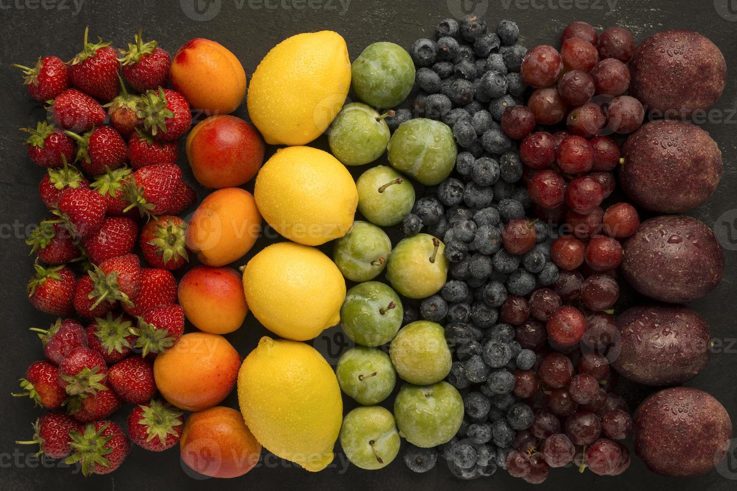 Fruit rainbow photo