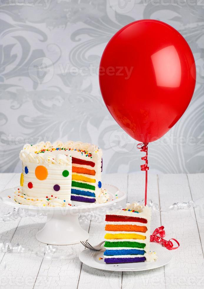 Birthday Cake with Balloon photo